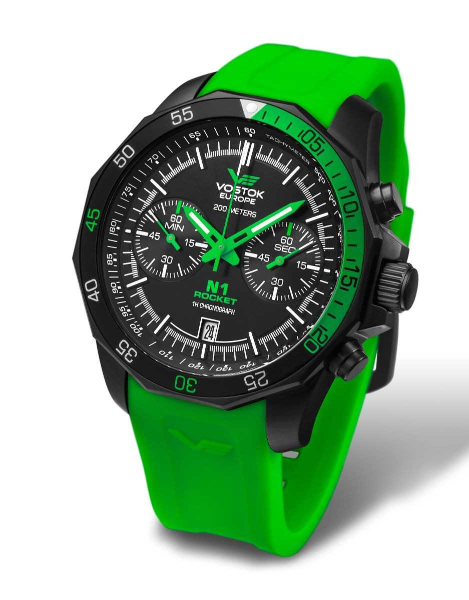 Vostok Europe Rocket N1 Chronograph 2254252-S - Silikonband - 46 mm
